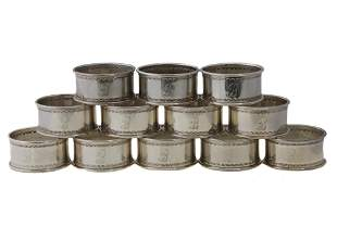 AMERICAN REED BARTON STERLING SILVER NAPKIN RINGS