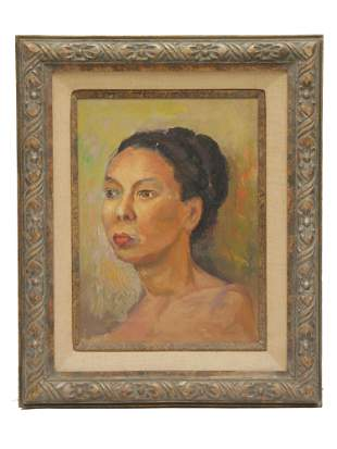 A VINTAGE FRAMED OIL ON CANVAS PAINTING