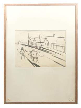 INK ON PAPER BY JACQUES LIPCHITZ WITH PROVENANCE