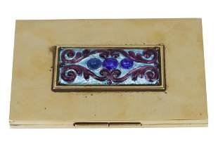 A HAGENAUER WIEN HANDMADE BRASS CARD HOLDER