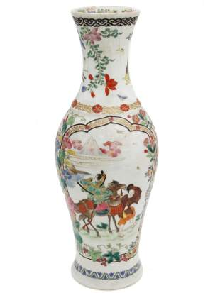 AN ANTIQUE CHINESE QING DYNASTY PORCELAIN VASE