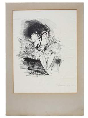 A RUSSIAN LITHOGRAPH ON PAPER BY I ARKHANGELSKY