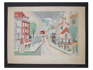 FRENCH COLOR LITHOGRAPH PAPER BY CHARLES COBELLE