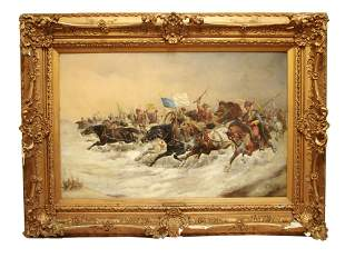 RUSSIAN BULGARIAN OIL PAINTING CANVAS BY STOILOFF