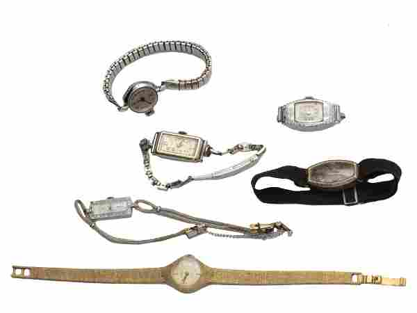 A SET OF SIX VINTAGE WOMAN'S WRIST WATCHES
