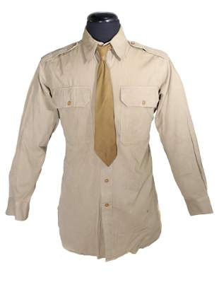 US MILITARY UNIFORM REGULATION ARMY OFFICER SHIRT