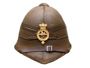 19TH VICTORIAN BRITISH ARMY COLONIAL HELMET BADGE