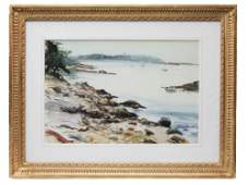 VINTAGE WATERCOLOR PAINTING BY A A LAWRENCE