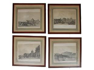AN ANTIQUE SET OF FRENCH LITHOGRAPHS BY BENOIST
