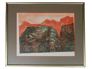 AMERICAN ABSTRACT AQUATINT ETCHING BY RUTH LEAF