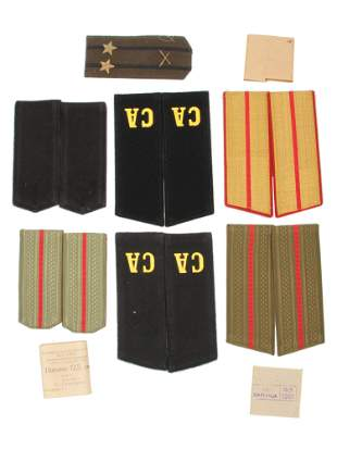 A LOT OF 13 SOVIET MILITARY SHOULDER BOARDS