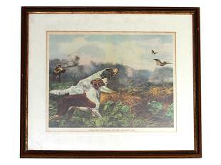 AFTER TAIT AMERICAN STONE PRINT HUNT CURRIER IVES