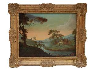 EUROPEAN OIL PAINTING LANDSCAPE SIGNED BY CAPOLA