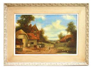 ENGLISH OIL PAINTING ON CANVAS BY CHARLES VICKERS
