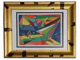 MID CENTURY ABSTRACT PAINTING ATTR TO ROLPH SCARLETT