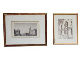 PAIR OF ENGRAVING ON PAPER AFTER CASIANO ALGUACIL