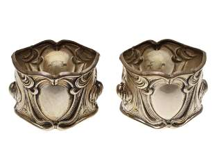 PAIR OF FRANK WHITING STERLING SILVER NAPKIN RING