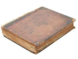 AN ANTIQUE 18TH C. BOOK A VOYAGE ROUND THE WORLD