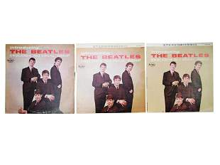 INTRODUCING THE BEATLES 3 VINYL RECORD ALBUMS