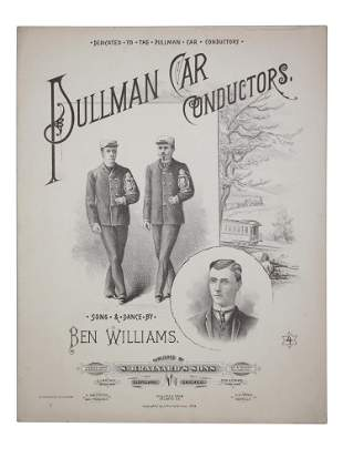 AMERICAN SHEET MUSIC BROCHURE SONG BY B WILLIAMS