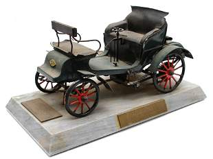 A VINTAGE SCALE MODEL CAR FIRST OPEL AUTOMOBILE