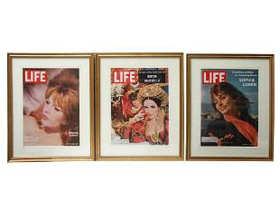 SET OF THREE USA PRINTS OF LIFE MAGAZINE COVERS