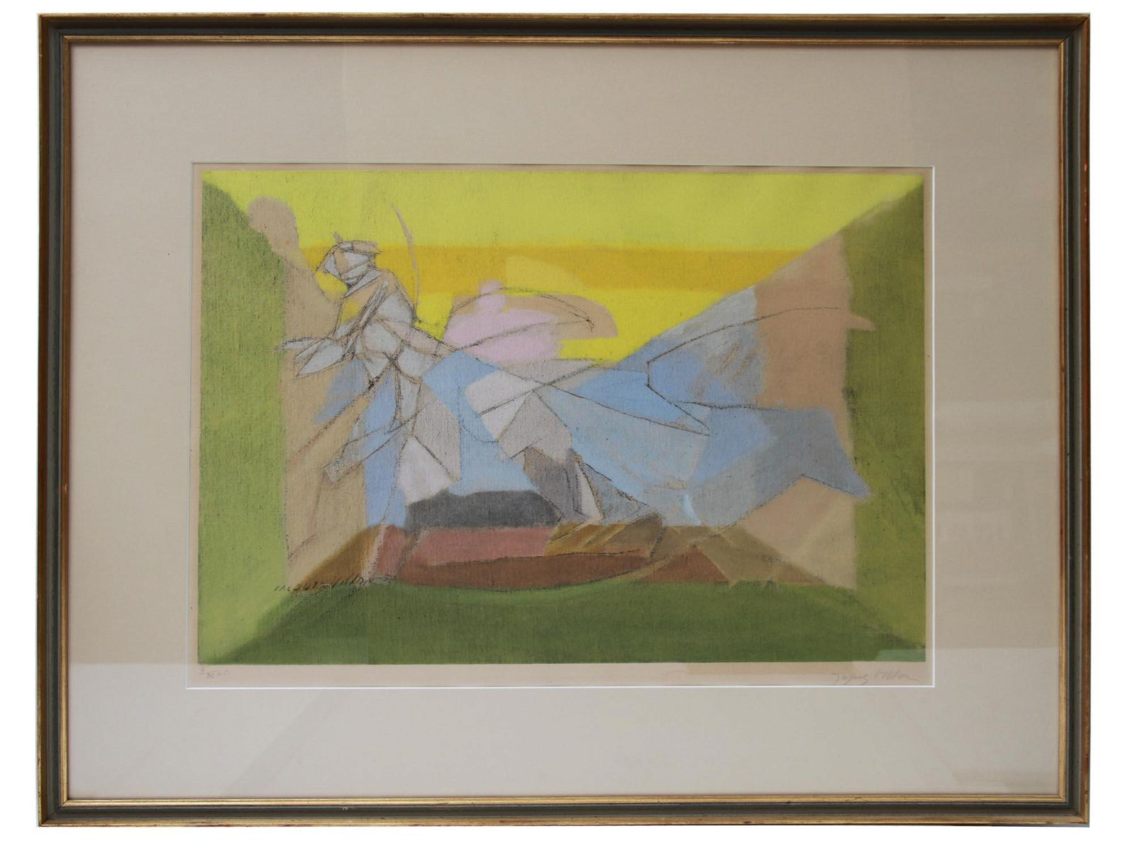 FRENCH COLOR LITHOGRAPH BY JACQUES VILLON