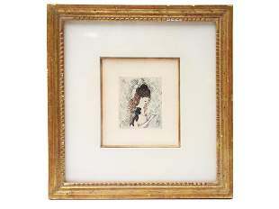 A MARIE LAURENCIN LIMITED EDITION COLOR ETCHING