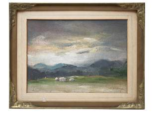 ATTR KENNETH KEITH FORBES OIL PAINTING LANDSCAPE