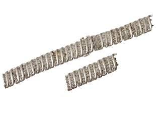 A STERLING SILVER & DIAMONDS JWBR BRACELET