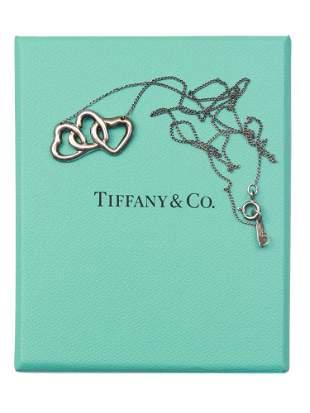 A TIFFANY & CO 925 SILVER TRIPLE HEART NECKLACE