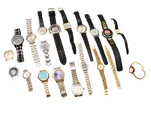 A LOT OF 20 VINTAGE AND MODERN WRISTWATCHES