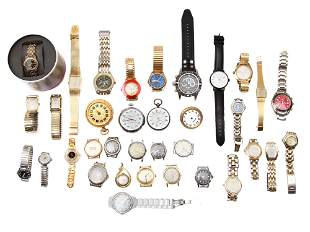 A LARGE LOT OF VINTAGE AND MODERN WATCHES