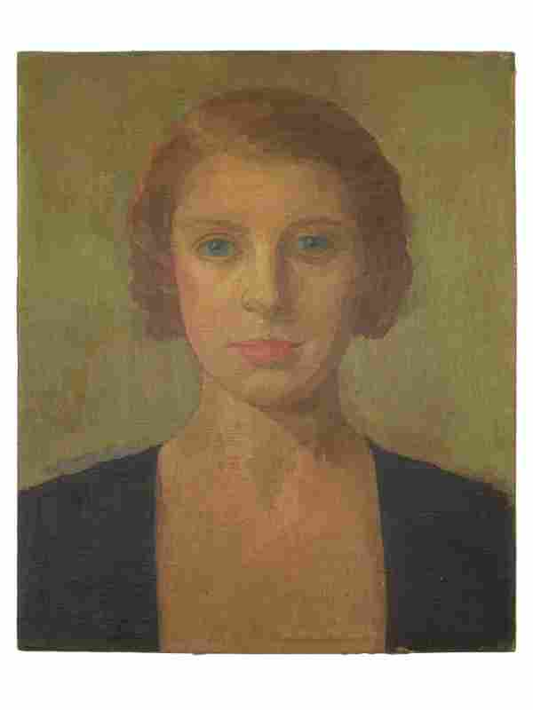 20TH CENTURY OIL PAINTING PORTRAIT OF A WOMAN