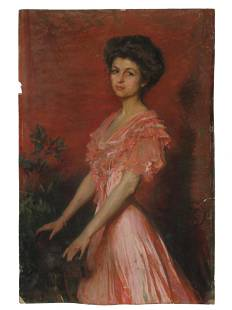 AN EARLY 20TH CENTURY PASTEL PORTRAIT OF A LADY