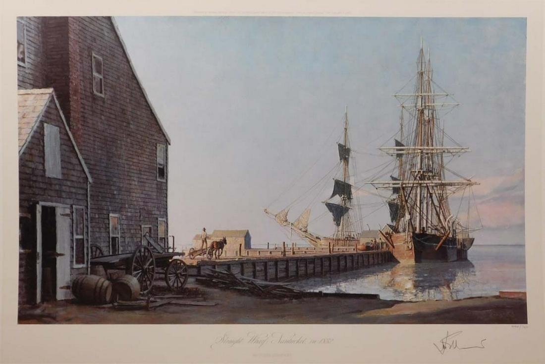 John Stobart: Straight Wharf, Nantucket in 1832