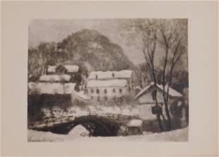 Claude Monet : Norvege Le Village de Sandviken (Norway