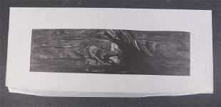 Leonard Baskin: Abstract Crashing Waves