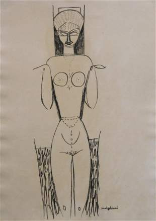 Manner of Modigliani: Caryatid