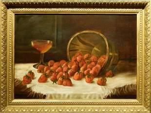 American School: Basket of Strawberries