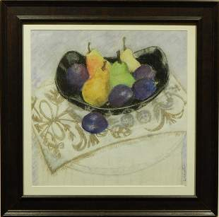 Dina Cheyette: Pears and Plumbs Still Life