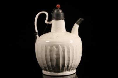 A top and fine Dingyao inlaying silver ewer