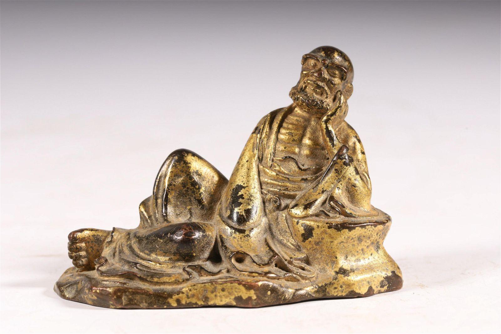 A fine gilt-bronze 'character' buddha