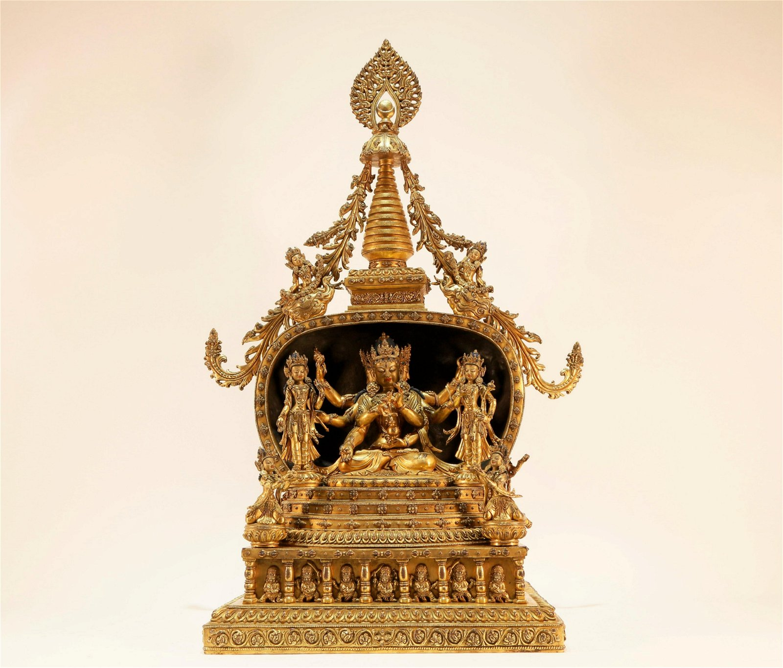 A Gilt-Bronze Stupa of Marici