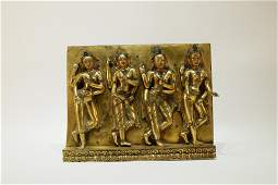 A Gilt Bronze Tibetan Sculpture Buddhist Pendant