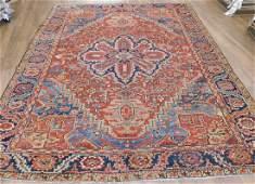 Antique Heriz Carpet 9.8 x 12