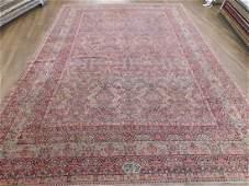 Antique Lavar Kerman Carpet 10.4 x 14.11