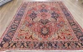 Antique Heriz Carpet 8.7 x 11