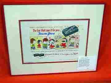73: Original Charles Schulz Advertising Cartoon