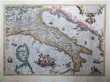 Abraham Ortelius: Italiae Novissima Diescriptio.